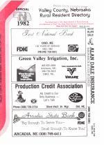 Title Page, Valley County 1982
